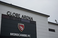 during the Sky Bet League 2 match between Morecambe and Wycombe Wanderers at the Globe Arena, Morecambe, England on 18 August 2015. Photo by Andy Rowland.