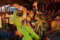 Dancing in the streets Varanasi India,  Holi Festival