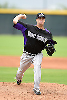 Colorado Rockies pitcher Grahamm Wiest (16) during an Instructional League game against the Arizona Diamondbacks on October 8, 2014 at Salt River Fields at Talking Stick in Scottsdale, Arizona.  (Mike Janes/Four Seam Images)