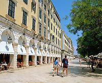 Greece, Corfu, Corfu-Town (Kerkyra): Esplanade (Spianada) & the Liston | Griechenland, Korfu, Korfu-Stadt (Kerkyra): Esplanade (Spianada) und der Liston