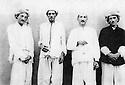 Irak 1950?.Bagdad: De droite a gauche, Ois Mah, Sheikh MohamedKhaled, Sheikh Ahmed et Sheikh Osman in jail.Iraq 1950?.Baghdad: From right to left, Ois Mah, Sheikh Mohamed Khaled, Sheikh Ahmed et Sheikh Osman