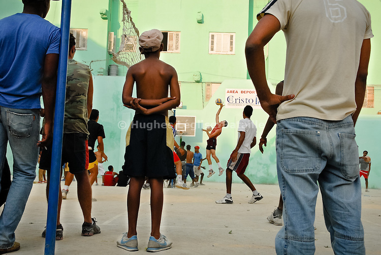 Street volley and basketball in La Havana, Cuba