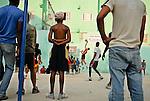 Street volley and basketball in La Havana, Cuba