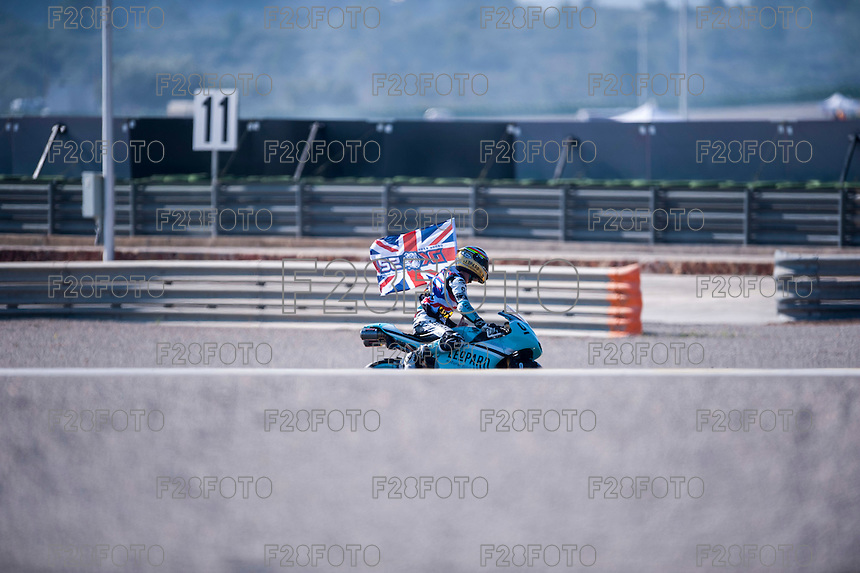 VALENCIA, SPAIN - NOVEMBER 8: Danny Kent, Moto3 World Champion 2015 during Valencia MotoGP 2015 at Ricardo Tormo Circuit on November 8, 2015 in Valencia, Spain