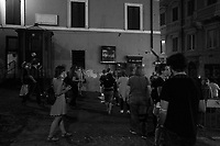 """Rome, 10/07/2020. Today, """"Assange Libero"""" (Free Assange), a walkabout curated by Urban Experience (1.) and RiavviaItalia Live (2.), in collaboration with NuvolaProject (3.) and Hearth Platform (heart & art & earth, 4.), was held in the streets of Rome. The event was a """"nomadic video projection. A walkabout from the staircase of the Palazzo delle Esposizioni"""" projecting, on various Rome's famous buildings and landmarks, the about forty portraits of Julian Assange made by Artist Miltos Manetas (5.) for the exhibition """"Condizione Assange"""" (Condition Assange) which is held at Palazzo delle Esposizioni (6.). The prominent Rome's exhibition venue has already reopened from the pandemic Covid-19 / Coronavirus emergency, but Manetas exhibition remains, by the artist's will, inaccessible to the public, until 26 July, the end of the exhibition itself, to recreate the condition of coercion of the Australian journalist, activist and Wikileaks founder, Julian Assange, held in HM Belmarsh prison in London since the US extradition request in April 2019. In January 2020 Assange was moved out of solitary confinement.<br /> «Miltos Manetas is a Greek-born painter, conceptual artist and theorist whose work explores the representation and the aesthetics of the information society […]» (5.).<br /> <br /> Footnotes & Links:<br /> 1. https://www.urbanexperience.it/ <br /> 2. https://riavviaitalia.it/<br /> 3. https://www.nuvolaproject.cloud/<br /> 4. https://www.hearth-platform.org/<br /> 5. http://timeline.manetas.com/en/<br /> 6. https://www.palazzoesposizioni.it/ <br /> For all my London's Stories about Julian Assange (2010 to 2017 plus a demo in Rome in 2020), please check the Caption of the last photo of this story."""