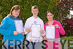 Samantha Leahy, Thomas Dillon and rachel Willmount from Listowel Community College received their Junior Certificate results on Wednesday.