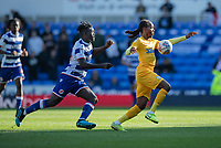 Preston North End's Daniel Johnson (right) under pressure from Reading's Ovie Ejaria (left) <br /> <br /> Photographer David Horton/CameraSport<br /> <br /> The EFL Sky Bet Championship - Reading v Preston North End - Saturday 19th October 2019 - Madejski Stadium - Reading<br /> <br /> World Copyright © 2019 CameraSport. All rights reserved. 43 Linden Ave. Countesthorpe. Leicester. England. LE8 5PG - Tel: +44 (0) 116 277 4147 - admin@camerasport.com - www.camerasport.com