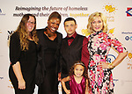 Another World's Amy Carlson with Deborah Koenigsberger and Hearts of Gold family - Hearts of Gold All That Glitters Ball celebrating 23 years of support to New York City's homeless mothers and their children on November 1, 2017 at Capitale, New York City, New York.  (Photo by Sue Coflin/Max Photo)
