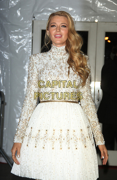 02 10, 2016: Blake Lively at 2016 amfAR New York Gala at Cipriani Wall Street  in New York. <br /> CAP/MPI/RW<br /> &copy;RW/MPI/Capital Pictures
