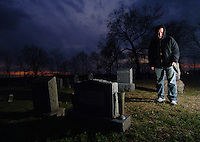 Graveyard horror scene, Maryland.