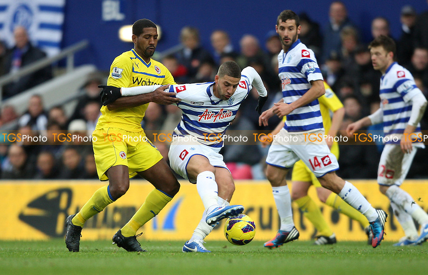 Adel Taarabt of QPR and Mikele Leigertwood of Reading - Queens Park Rangers vs Reading, Barclays Premier League at Loftus Road, London - 04/11/12 - MANDATORY CREDIT: Rob Newell/TGSPHOTO - Self billing applies where appropriate - 0845 094 6026 - contact@tgsphoto.co.uk - NO UNPAID USE.