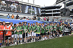 30 MAY 2016: Junior lacrosse players are  seen during the Division 1 Men's Lacrosse Championship between the University of Maryland and the University of North Carolina at Lincoln Financial Field in Philadelphia, PA. Larry French/NCAA Photos