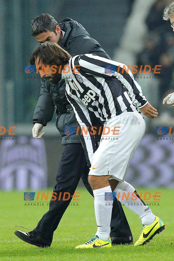 Andrea Pirlo Infortunato - Torino 01-12-2013 Juventus Stadium - Football Calcio 2013/2014 Serie A  - Juventus - Udinese - Foto Marco Bertorello  / Insidefoto