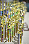 Old Westbury, New York, U.S. - June 1, 2014 - Trophies are awarded for many different categories at the Antique and Collectible Auto Show held on the historic grounds of elegant Old Westbury Gardens in Long Island, and sponsored by Greater New York Region AACA Antique Automobile Club of America.
