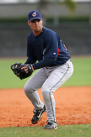 Cleveland Indians minor leaguer Jake Gautreau during Spring Training at the Chain of Lakes Complex on March 16, 2007 in Winter Haven, Florida.  (Mike Janes/Four Seam Images)