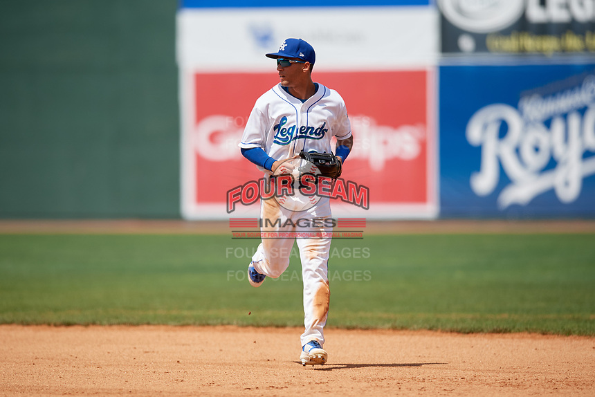 Lexington Legends center fielder Marten Gasparini (24) jogs off the field during a game against the Rome Braves on May 23, 2018 at Whitaker Bank Ballpark in Lexington, Kentucky.  Rome defeated Lexington 4-1.  (Mike Janes/Four Seam Images)