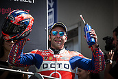 June 4th 2017, Mugello Circuit, Tuscany, Italy; MotoGP Grand Prix of Italy, Race day;  DANILO PETRUCCI OCTO PRAMAC DUCATI celebrates his 3rd place on the podium