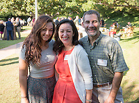 Hannah Kaminsky '16 and her parents Marci and Bruce Kaminsky, Parent Association Co-Presidents. President's Reception, Homecoming & Family Weekend, Friday, Oct. 18, 2013. (Photo by Marc Campos, Occidental College Photographer)