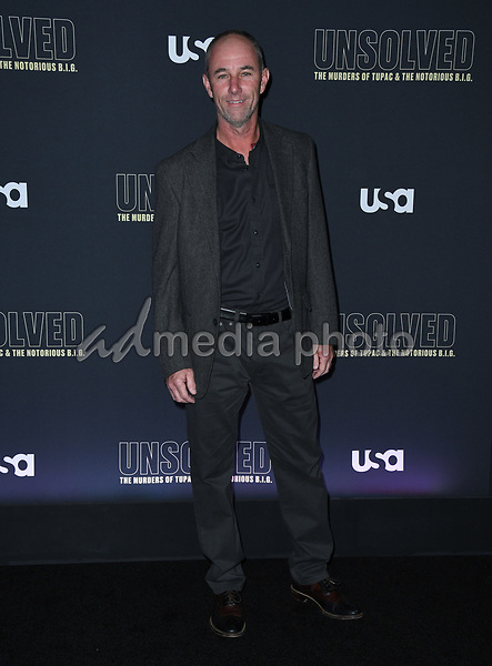 """22 February 2018 - Hollywood, California - Jamie McShane. USA Network's """"Unsolved: The Murders of Tupac & The Notorious B.I.G."""" held at Avalon Hollywood. Photo Credit: Birdie Thompson/AdMedia"""