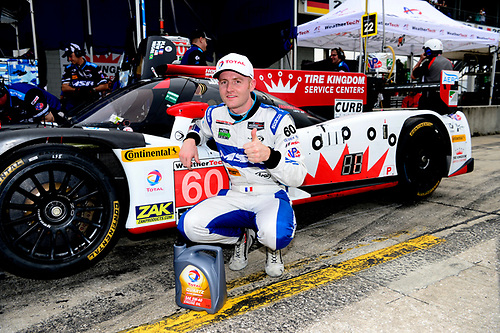 16-19 March, 2016, Sebring, Florida USA<br /> 60, Honda HPD, Ligier JS P2, P, Olivier Pla captures overall pole position.<br /> ©2016, Richard Dole<br /> LAT Photo USA