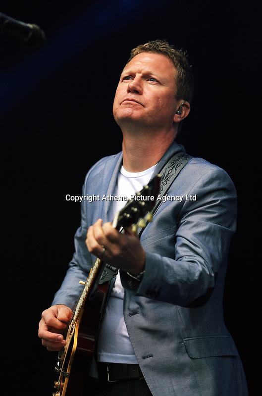 Nathan King of Level 42 <br />UB40 concert at Parc Y Scarlets, Llanelli, Wales, UK. Saturday 10 June 2017