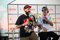 MEXICALI, MEXICO - June 8  Mexican Rapper LNG / SHT during his press conference on the the Tecate Location on  June 8, 2019 in Mexicali, Mexico.<br /> Tecate Location Mexicali 2019 is one of the main music festivals nationwide and in the state, Band line up<br /> CAIFANES, CAMILO VII, DRAKE BELL, LNG / SHT, SERBIA<br /> (Photo by Luis Boza/VIEWpress)