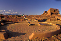 AJ3880, New Mexico, pueblo, ruin, Pecos National Historical Park, New Mexico, Kiwa, ancient pueblo ruins at Pecos Nat'l Historical Park in the state of New Mexico.
