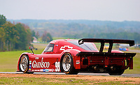 The #99 Chevrolet Riley of Alex Gurney and Jon Fogarty races past fall foliage during the Grand-Am Rolex Series test at Virginia International Raceway, Alton, VA , October 2010. (Photo by Brian Cleary/www.bcpix.com)
