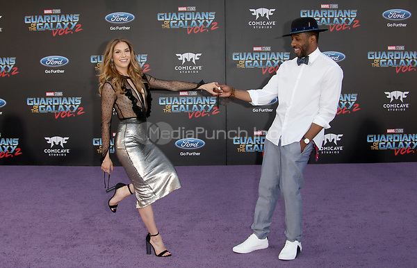 "HOLLYWOOD, CA - April 19: Allison Holker, Stephen 'tWitch' Boss, At Premiere Of Disney And Marvel's ""Guardians Of The Galaxy Vol. 2"" At The Dolby Theatre  In California on April 19, 2017. Credit: FS/MediaPunch"