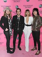 NEW YORK, NY - DECEMBER 02:  The Struts attends the Victoria's Secret Viewing Party at Spring Studios on December 2, 2018 in New York City. <br /> CAP/MPI/JP<br /> &copy;JP/MPI/Capital Pictures