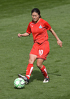 Washington Freedom's Homare Sawa. The LA Sol defeated the Washington Freedom 2-0 in the opening game of Womens Professional Soccer at Home Depot Center stadium on Sunday March 29, 2009.  .Photo by Michael Janosz