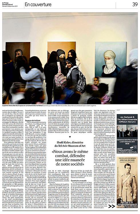 Le Temps, Switzerland - December 3, 2011