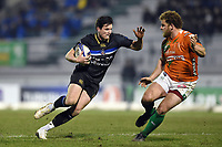 Freddie Burns of Bath Rugby in possession. European Rugby Champions Cup match, between Benetton Rugby and Bath Rugby on January 20, 2018 at the Municipal Stadium of Monigo in Treviso, Italy. Photo by: Patrick Khachfe / Onside Images