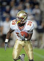 Sept. 19, 2009; Provo, UT, USA; Florida State Seminoles running back Tavares Pressley against the BYU Cougars at LaVell Edwards Stadium. Florida State defeated BYU 54-28. Mandatory Credit: Mark J. Rebilas-