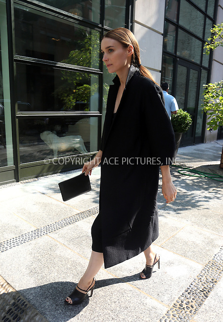 WWW.ACEPIXS.COM<br /> <br /> September 12 2013, New York City<br /> <br /> Actress Rooney Mara arrives at her Soho hotel on September 12 2013 in New York City<br /> <br /> By Line: Philip Vaughan/ACE Pictures<br /> <br /> ACE Pictures, Inc.<br /> tel: 646 769 0430<br /> Email: info@acepixs.com<br /> www.acepixs.com