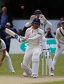 June 12th 2017, Trafalgar Road Ground, Southport, England; Specsavers County Championship Division One Day Four; Lancashire versus Middlesex; Middlesex keeper John Simpson follows the ball into his gloves as Liam Livingstone of Lancashire is beaten by a bouncer