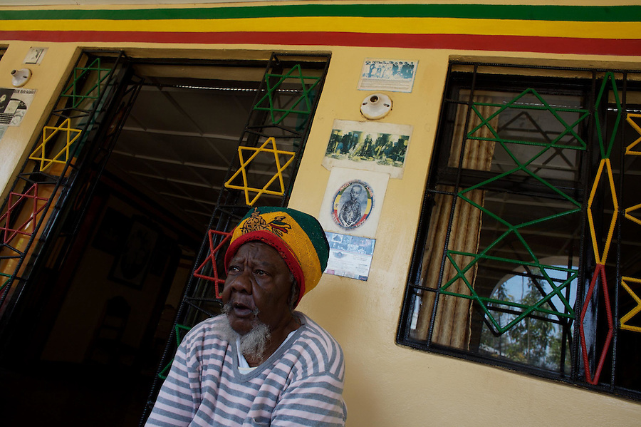 a Jamaican rastafarian priestess sits in the Nyabinghi's, a rastafarian movement, tabernacle   in Shashamane, a village that hosts more than 300 Rastafarians Families, in Ethiopia on Saturday March 22 2008.///..The Rastafarians, who are mainly from Jamaica, started migrating to Ethiopia 45 years ago, when Haile Selassie, whom they consider to be God incarnate, gave them 500 hectares of land on which to settle..Since the first 12 Jamaican settlers in 1963, the community has grown to over 200 families..The Rastafarian community insists that a mass exodus of Jamaicans to Ethiopia would not be a burden, despite the poverty and economic difficulties faced in the country..Some of them are skilled tradesmen such as carpenters and builders..Others are shop owners and they say that over the decades they have played an important role in the development of Shashamene..In January 2005 there were reports in the media that Bob marley's remains were to be exhumed and then reburied at Shashamane. His wife Rita Marley described Ethiopia as his spiritual home, provoking controversy in Jamaica, where his remains lie..At the beginning of the following month, thousands of fans gathered in Shashamane for a month of celebrations for what would have been Marley's 60th birthday. Until 2005 his birthday celebrations were always held in Jamaica. These events brought Shashamane to wider prominence throughout the world..