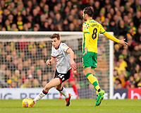 Bolton Wanderers' Joe Williams gets away from Norwich City's Mario Vrancic<br /> <br /> Photographer David Shipman/CameraSport<br /> <br /> The EFL Sky Bet Championship - Norwich City v Bolton Wanderers - Saturday 8th December 2018 - Carrow Road - Norwich<br /> <br /> World Copyright &copy; 2018 CameraSport. All rights reserved. 43 Linden Ave. Countesthorpe. Leicester. England. LE8 5PG - Tel: +44 (0) 116 277 4147 - admin@camerasport.com - www.camerasport.com