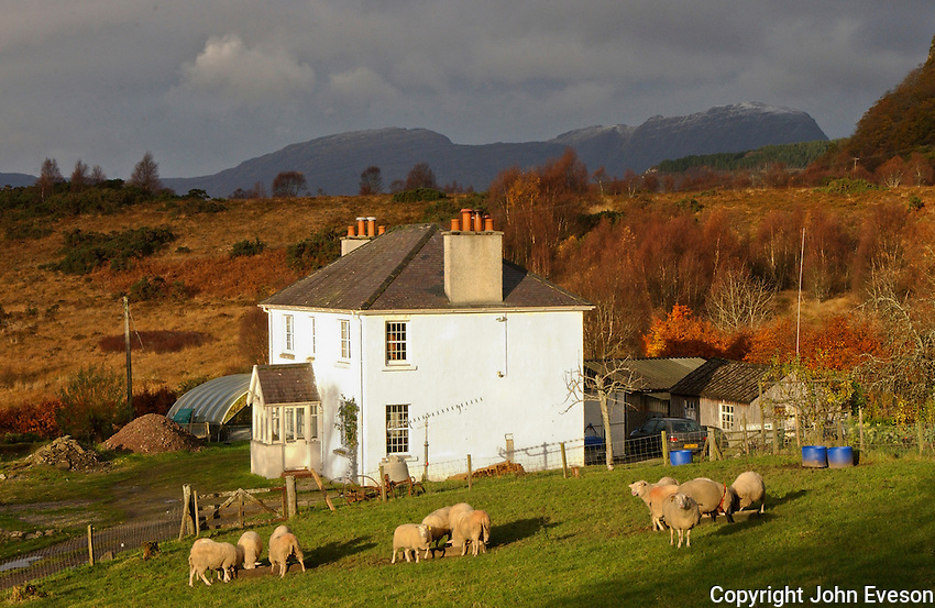 A Scottish croft, Achmore, Stromeferry, Ross-Shire, Scotland.