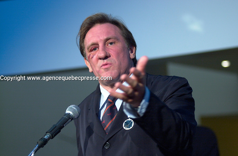 Gerard Depardieu, <br /> at the 2002 World Film Festival -<br /> au Festival des Films du Monde 2002<br /> <br /> photo : (c)  Images Distribution