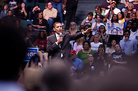 Barack Obama, Democratic Senator from Illinois, met 1,000s of people filling Reunion Arena in Dallas, Texas, during a rally in support of his campaign against Hillary Clinton to win the Democratic Party nomination for president Wednesday, February 20, 2008. Mr. Obama is visiting Texas in preparation for the March 4 primary.  (PHOTO/ MATT NAGER)