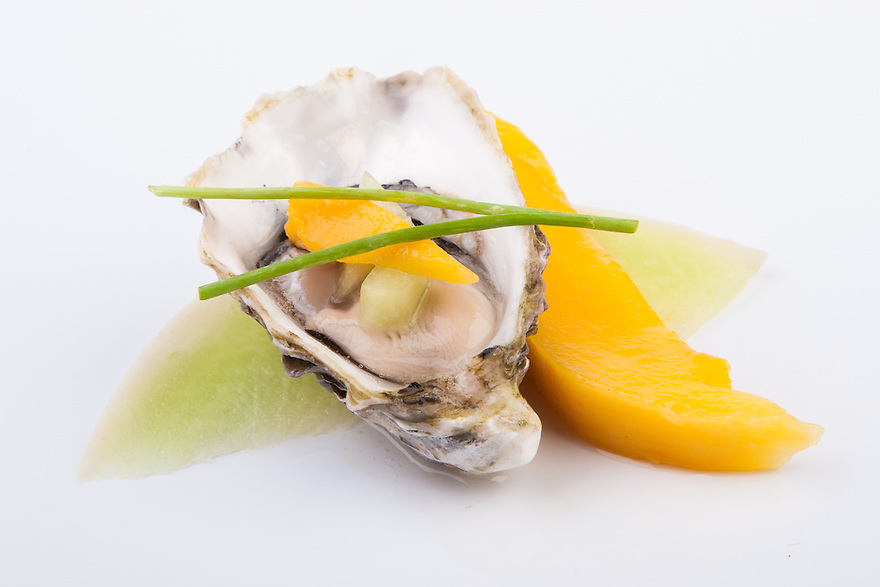 Oyster with Mango and Melon