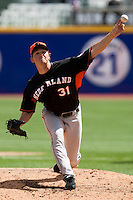 7 March 2009: #31 Alexander Smit of the Netherlands pitches against the Dominican Republic during the 2009 World Baseball Classic Pool D match at Hiram Bithorn Stadium in San Juan, Puerto Rico. Netherlands pulled off a huge upset in their World Baseball Classic opener with a 3-2 victory over Dominican Republic.