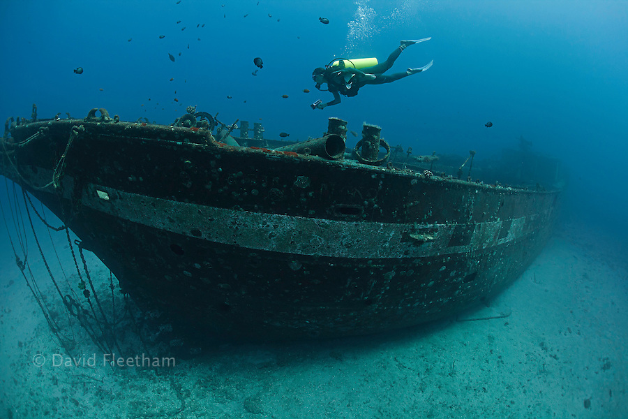 The Carthaginian, a Lahaina landmark, was sunk as an artifical reef off Lahaina, Maui, Hawaii in December 2005.
