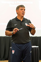 Orlando, FL - Friday Oct. 14, 2016:   Coaching instructor Louis Mateus during a US Soccer Coaching Clinic in Orlando, Florida.