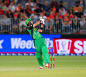 3rd February 2019, Optus Stadium, Perth, Australia; Australian Big Bash Cricket League, Perth Scorchers versus Melbourne Stars; Glenn Maxwell of the Melbourne Stars hooks the ball to the boundary during his innings