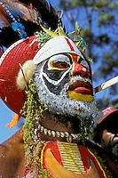 Papua New Guinea, Western Highlands Province, Mt. Hagen Cultural Show, man