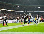 09.11.2014.  London, England.  NFL International Series. Jacksonville Jaguars versus Dallas Cowboys. Jaguars' Denard Robinson (#16) scores a touchdown for the Jaguars
