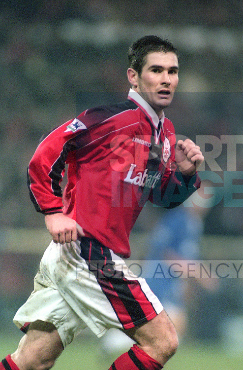 Nigel Clough of Nottingham Forest  - Premier League - Nottingham Forest v Chelsea - City Ground - Nottingham - England - 11th January 1997 - Picture Simon Bellis/Sportimage