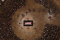 They Bush family walks past as Former President George H. W. Bush lies in state in the U.S. Capitol Rotunda Monday, Dec. 3, 2018, in Washington. <br /> CAP/MPI/RS<br /> &copy;RS/MPI/Capital Pictures